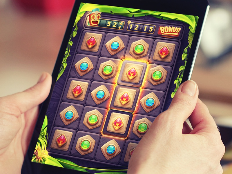 iOS Game / Match3! game ios ipad puzzle match3 gem gold bonus iphone arcade