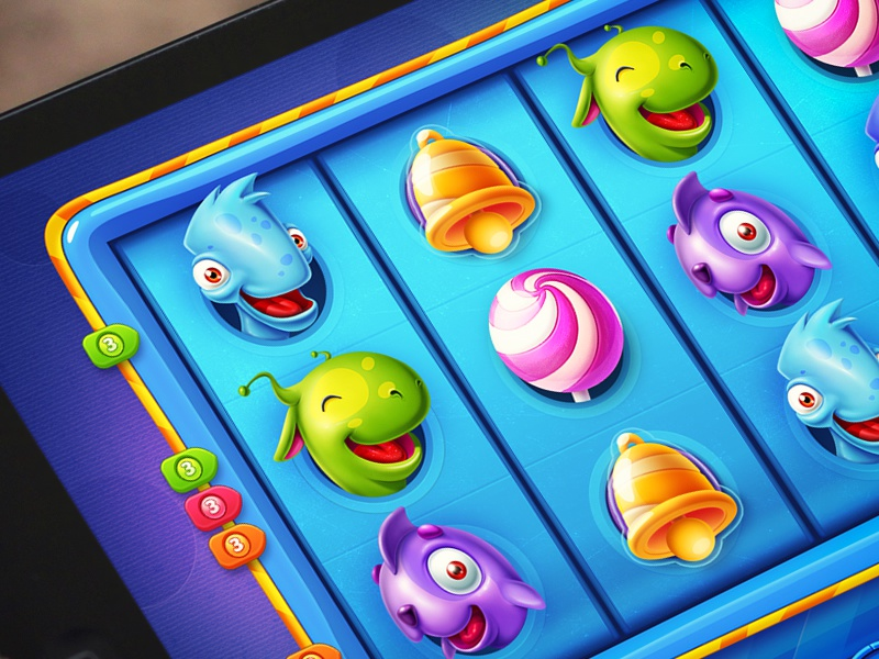 iOS Game / Slots game ios ipad iphone arcade character sketch slots button interface navigation monster