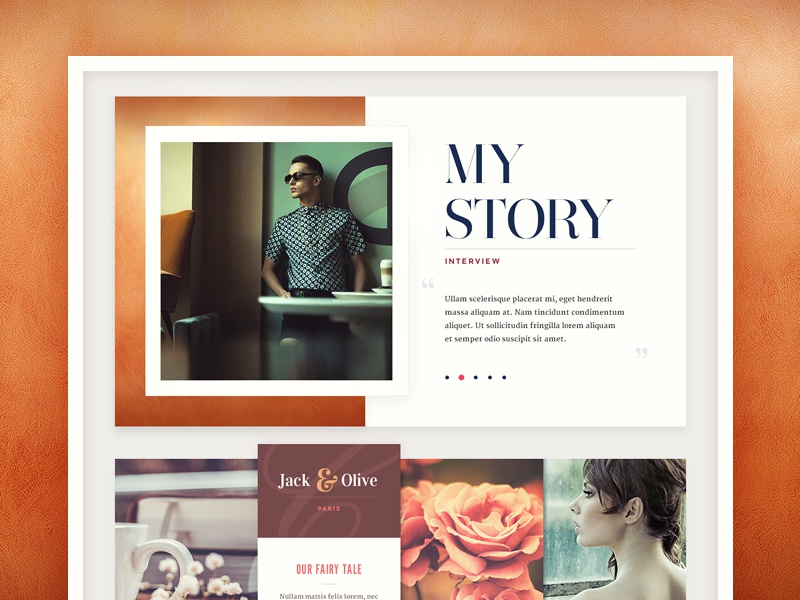 Web Design web site design paper wedding typography ui navigation button interface