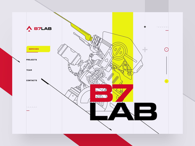 B7 Lab / Web site design / Animation logo animation vector minimal tech flat ux ui web typography illustration sketch design