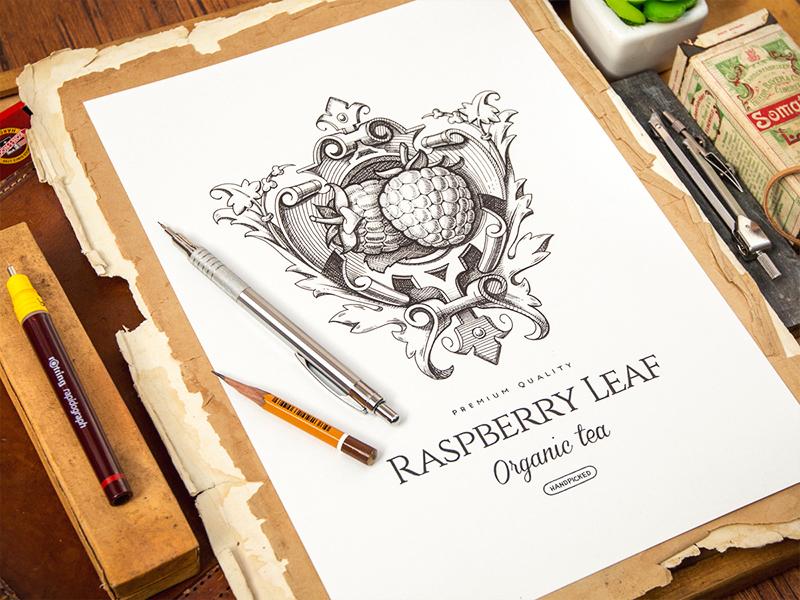 Logotype logotype logo sketch identity pencil leather notepad paper tea