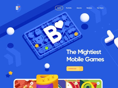 B studio / Game developer 2d 3d site animation flat minimal app ux vector logo ui game illustration design web