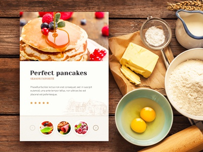 Bakery Website wood food web site typography design sketch texture cake navigation menu button