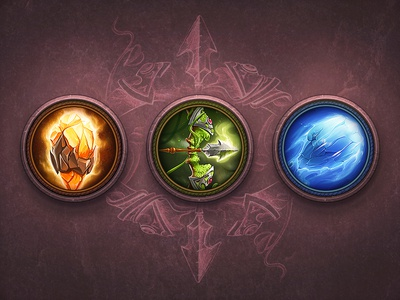 RPG / Icons game ios icon set fire ice nature grass sketch paper stone gem