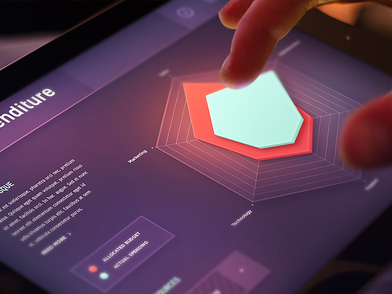 Statistics (radar chart) chart graph ui design ios data statistics dashboard stats background navigation glow