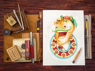Alejandro! :) character game icon smile face food pencil wood sketch ornament background