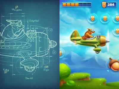 iOs Game game ios interface sketch icon glass plane wind bonus