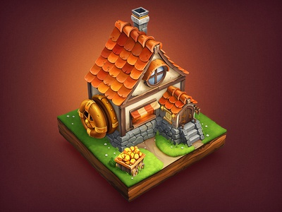 House / RPG house rpg paper notepad sketch ios game wood grass steampunk stone metal