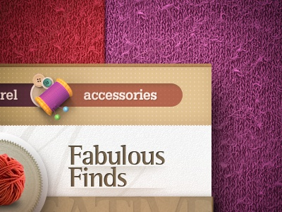 Tailoring accessories tailoring vintage sweater wool apparel stock paper spool design web webdesign site