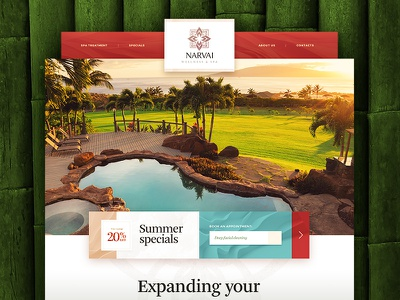Narvai / Wellness & Spa spa menu typography site button navigation art web design