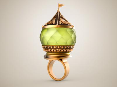 Ancient Ring ring icon metal gold ruby gem old vintage concept illustration idea