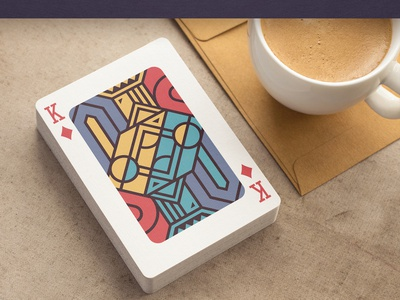 """""""Edge"""" Playing Cards (wip) character concept flat box packaging king sketch deck card"""