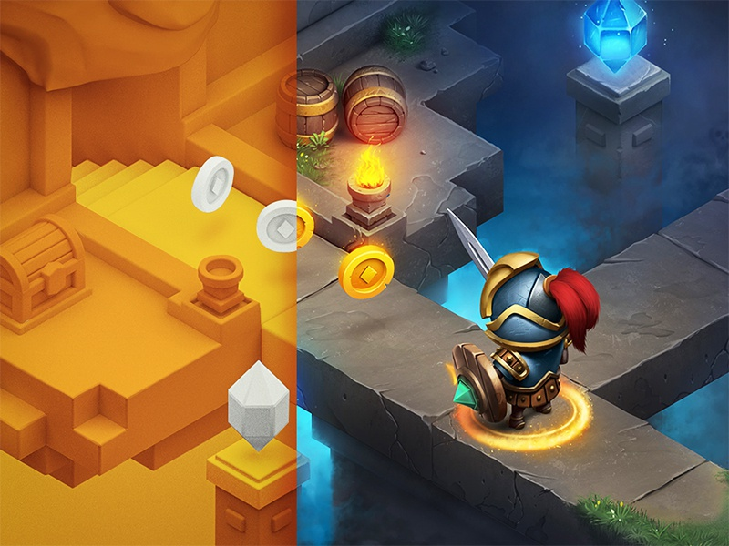 RPG / iOs game cinema icon rpg coin metal grass wood stone sketch character ios game