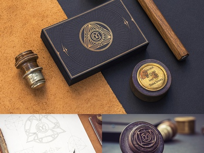 Business Card / Creative Mints embossing print stamp foil gold typography logotype leather metal paper card business