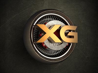 XG Tuning icon logo media metal steel hard turbine rotor brakes wheel car tuning