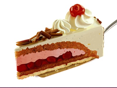 Cake illustration cake slice icon vip layer food restaurant