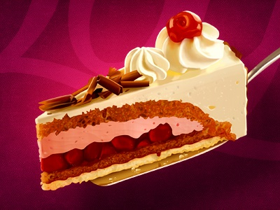 Cake illustration cake slice icon vip layer food restaurant