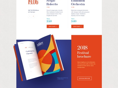 Ashbry Music Festival sound festival music typography modern flat design site web
