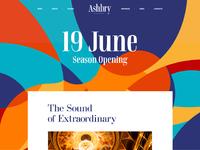 Ashbry music festival website design
