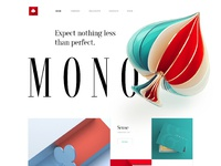 Mono creative agency web design