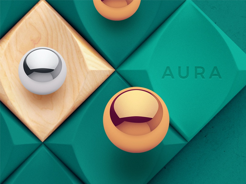 Aura / Puzzle game wood interface metal 3d arcade ios game puzzle