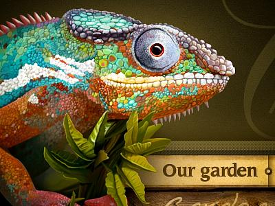 Chameleon chameleon lizard icon zoo web site wood illustration navigation leaf design texture