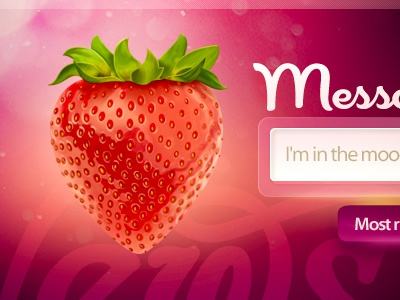 Strawberry fruit food search button strawberry dating love emotions mood fresh sketch design web site