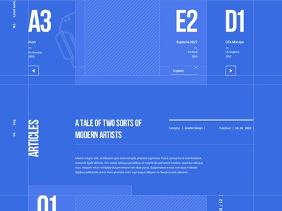 C / Sen Design Lab typography flat grid wireframe works portfolio animation design web