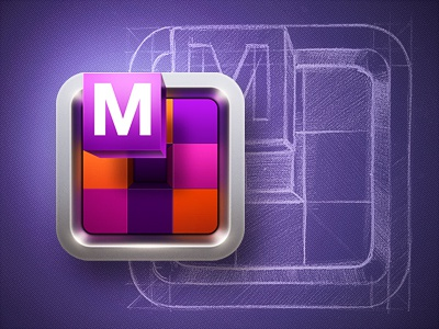 Mozaikr icon mosaic sketch block cube box metal ui apple iphone