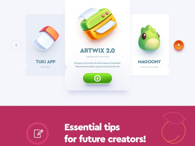 Apps for kids! illustration icon button typography app flat character design site web