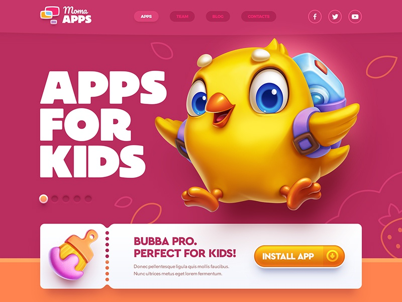 Web site design apps for kids