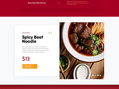 Golden Ramen / Web Site Design food glow 3d ramen restaurant animation design site web