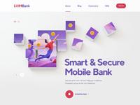 Web site design blockchain bank