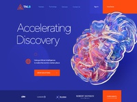 3d research lab web site design
