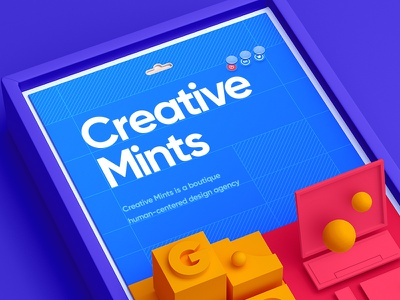 Creative Mints / Web site web sponsored wireframe wix 3d flat icon font typography design site