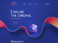 Web site 3d design illustration