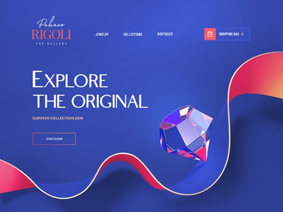 Rigoli  / Web site design wireframe glass 3d flat icon font typography design site web
