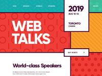 Site web design conference mobile
