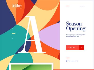 Ashbry Music Festival event opera festival music branding vector ux ui typography illustration design site web