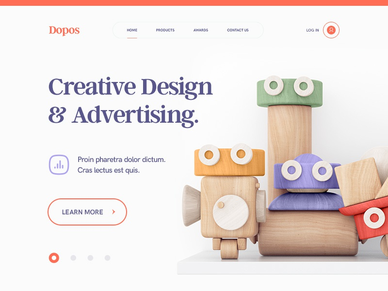 Design Studio / Dopos branding ui ux navigation icon wood illustration typography portfolio characters design site web