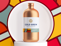 Coffee packaging hipster glass wood cold brew