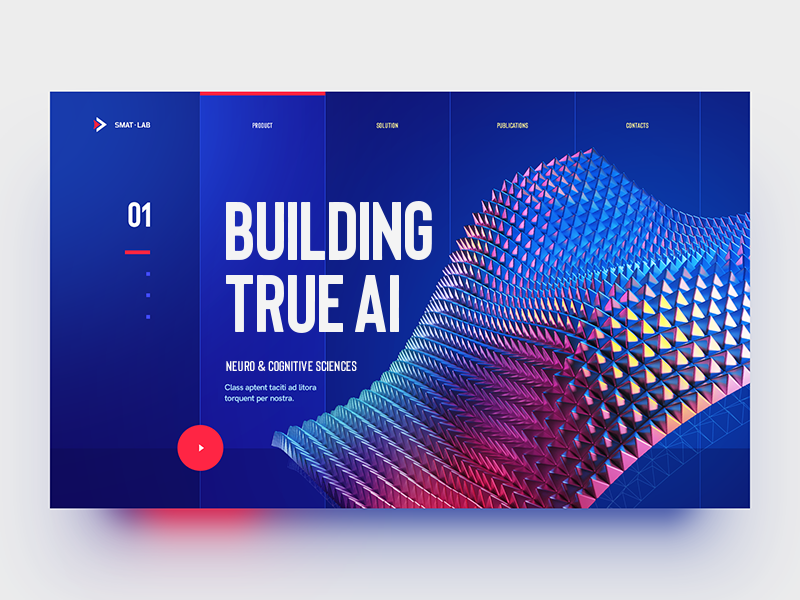 S.M.A.T Lab / True AI abstract 3d gradient glow blockchain flat ux ui logo typography illustration web design