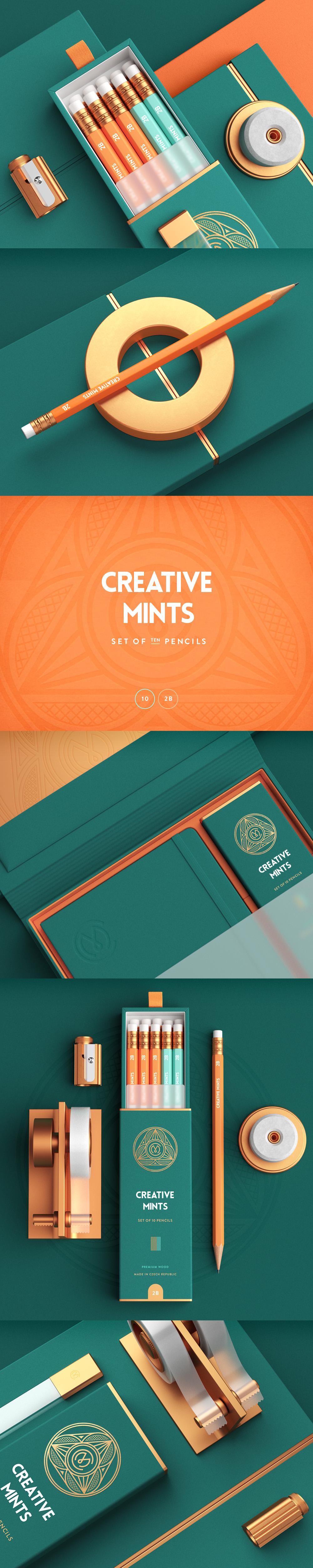Design craft logo packaging pencil box