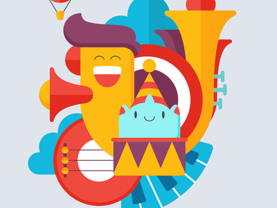 Rainbow Ridge / Music festival typography button flat type animation branding vector ux ui game illustration icon design app ios