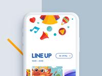 Festival ios app design logotype icon illustration