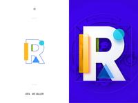 Design badge flat lettering glyph icon logotype