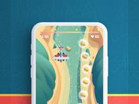 Game ios plane navigation animation menu motion