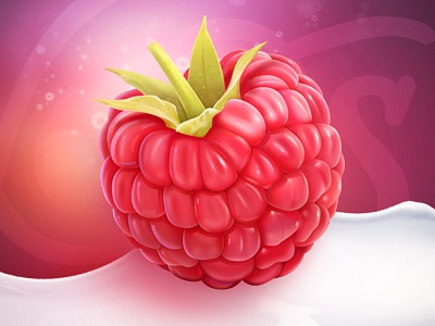 Raspberry fruit dating milk typography fresh light icon web element sketch raspberry color