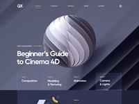 Web site design course 3d portfolio