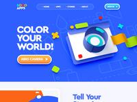 Web site design ui ux illustration flat